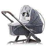 Parapioggia universale comfort per carrozzine, navicella, culla portatile ( ad es. Chicco, Peg...